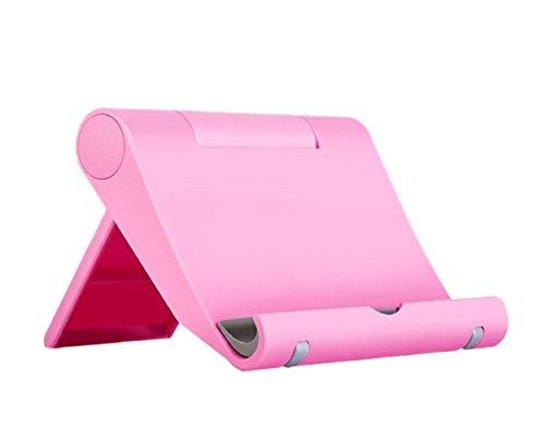 Leuchtbox Verstellbarer Universal Multi-Winkel Handyständer/ Smartphone Ständer/Handyhalterung/Tischständer für Tablets, Phablets, E-Reader, iPhone, iPad & Co. (bis max. 10 Zoll) (Pink)