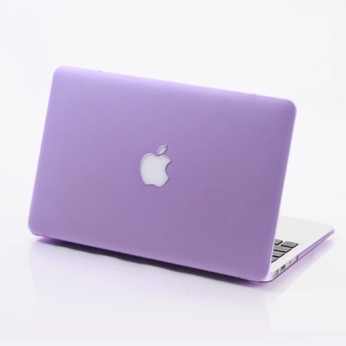 3C-LIFE Macbook-compatible Case, Frosted Dull Polish Surface Colorful Slim Shockproof Scratchproof Hard Shell Cover Case for Macbook Air13 [Purple]
