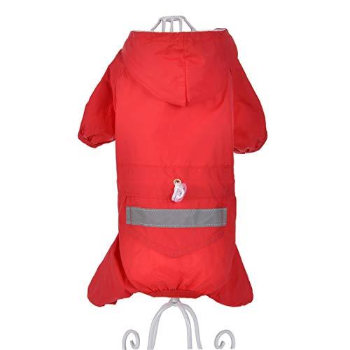 PZSSXDZW Haustierregenmantel Doppelschicht-Hunderegenmantel Frühlings- und Sommerkleidung Hundekostüm Kleidung für Hunde Red X-Large