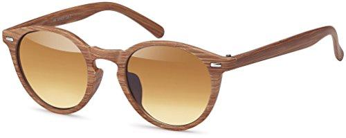 Balinco Runde Vintage Sonnenbrille im angesagten Unisex Rund für Herren & Damen - Retro Brille...
