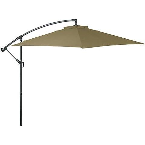 Greemotion ombrellone, 6rebbi con sfiato, diametro 300cm, antracite/sabbia, 300x 300x 250cm,