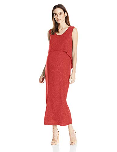 Ripe Damen Swing Back Maxi Dress Kleid, Lava, X-Klein (X-back-maxi Kleid)