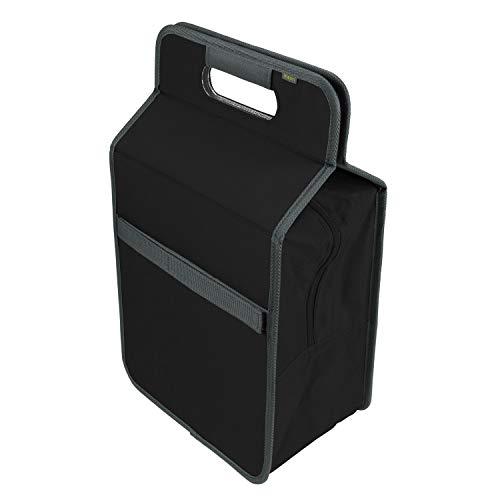 Faltbare Kühltasche mit Flascheneinsatz Lava Black stabil abwischbar Polyester Picknick isoliert Weinkühler Einkauf Grillfest