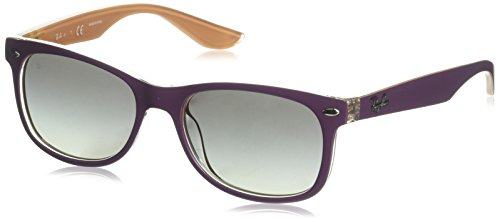RAYBAN JUNIOR Unisex-Kinder Sonnenbrille 9052s Top Matte Violet On Orange/Lightgreygradientdarkgrey, 47