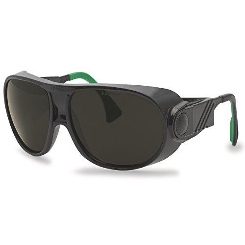 zbrille futura 9180, schwarz/grün, Scheibe: Grau, Schweißerschutz: 6 ()
