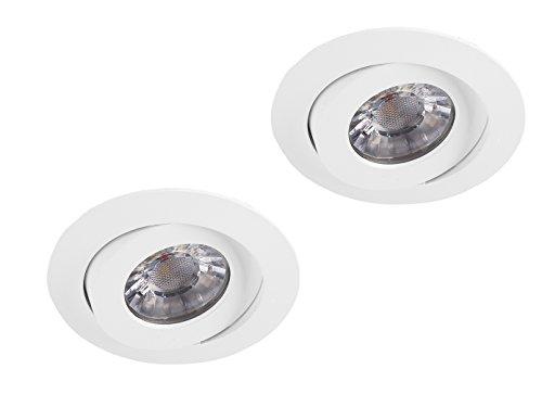 Smartwares Lot de 2 spots encastrables ronds à LED Blanc Ø 8,8 cm