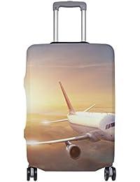 Preisvergleich für COOSUN Flugzeug in dem Himmel bei Sonnenuntergang-Druck-Reise-Gepäck Schutzabdeckungen Waschbar Spandex Gepäck...