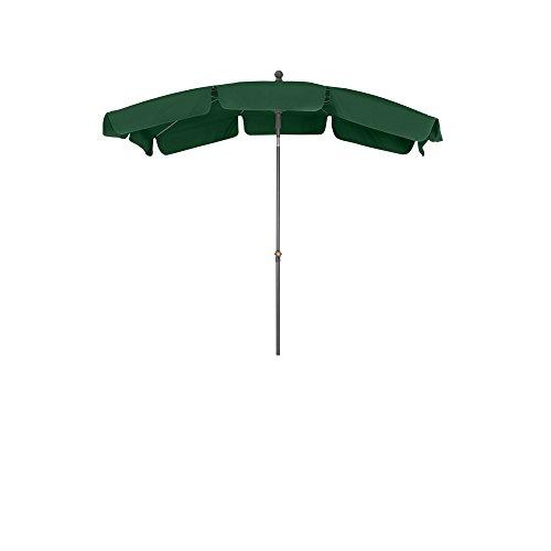 Siena Garden Mittelstockschirm Tropico durch Push-Up-System leicht zu öffnen Größe 2,1x1,4 m in silber-grün