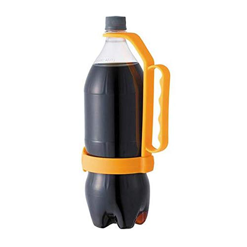 Universal Flasche Griff   Fügt Flaschengriff hinzu   Einfache Handhabung großer PET-Flaschen universal einstellbar für Trinkflaschen Geeignet für Zuhause Restaurants Bars (One Size, Orange) (Sicher, Sitz-sofa-abdeckung Sie Dass)