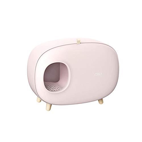 MAOSP Cassetta Igienica Toilette per Gatti-Lettiera per Animali Domestici Bentonite Semi-Chiusa Gatto 屎 Lavandino Odore di Toilette Puzzolente Toilette per Gatti Alga Verde Ciliegia in Polvere
