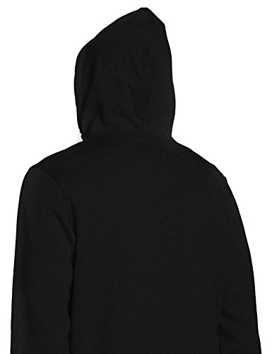 Urban Classics Herren Sweatjacke Hooded College Sweatjacket Mehrfarbig (Blk/Wht 50)