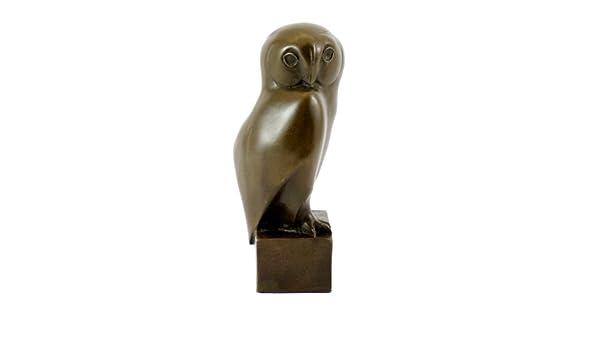 Tierskulptur v/éritable motif de chouette bronze sign/ée-fran/çois-moderne kunst acheter pompon