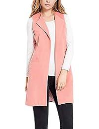 8a7f3e923a Amazon.it: gilet lana - Rosa / Donna: Abbigliamento