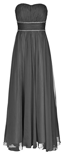 Juju&Christine Abendkleid Ballkleid Festkleid Hochzeitskleid Chiffon Schwarz 1512 (46)