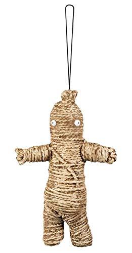 Boland 72198 Dekoration Voodoo Puppe 33 cm, beige/braun