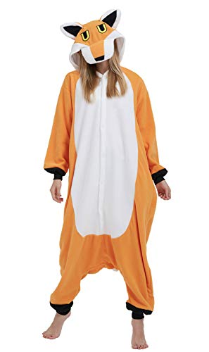 DELEY Unisexo Adulto Caliente Animal Pijamas Cosplay Disfraz Homewear Mamelucos Ropa De Dormir Zorro-2 XL