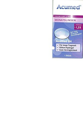 Acumed SH Monatslinsen weich, 1 Stück / BC 8.6 mm / DIA 14.2 mm / -1.25 Dioptrien