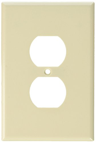 Leviton R56-78103-00T 1 Gang Light Almond Bulk Duplex Receptacle Wall Plate by Leviton