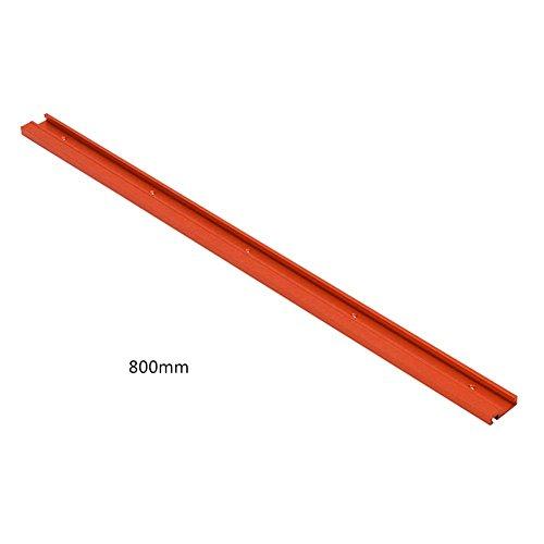 Clevoers Rail en alliage d'aluminium avec rainure en T pour travail du bois 600/800mm Rouge, couleur, B:800MM