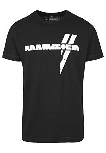 Rammstein Herren Weiße Balken Tee T-Shirt Schwarz, L