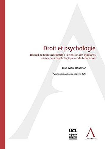 Droit et Psychologie