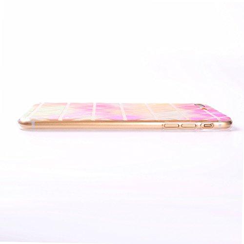 Vandot 3 X Coque pour iPhone 7 Plus Beau Motif de Dentelle Blanche Etui Souple TPU Silicone Case Doux Transparent Couverture Ultra-mince Ultraléger Coquille pour iPhone 7 Plus(5.5 Pouces) Anti-choc An 3in1-Design A