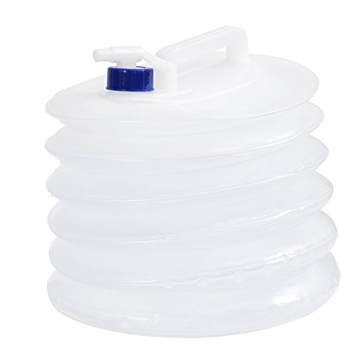 WINOMO Faltbarer Wasserbehälter 15L Faltbarer Wasserspeicher BPA Frei für Wandern Angeln Camping Freien Tragbare Tragetasche