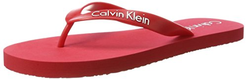 Calvin Klein Underwear Ff Sandal Solid, Tongs  Homme Rouge (Racing Red 601)