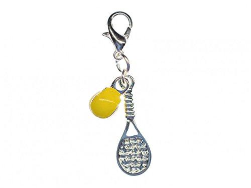 Tennisschläger und Tennisball Charm Anhänger Miniblings Tennis emailliert 2er (Tennis Ball Charm)