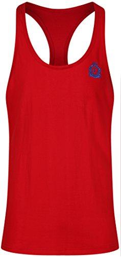 candish tr4 V3 N Gym/Bodybuilding Stringer Weste mit aufgesticktem Logo rot