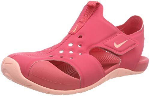 Nike Sunray Protect 2 (PS), Sandlai Sportivi Bambina, Multicolore (Tropical Pink/Bleach 600), 35 EU