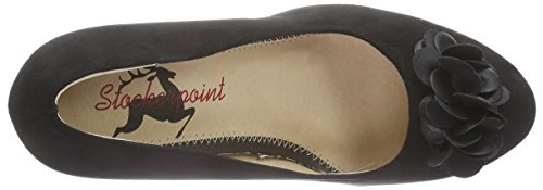 Stockerpoint Schuh 6080, Chaussures à talons avec plateau femme Noir - Noir