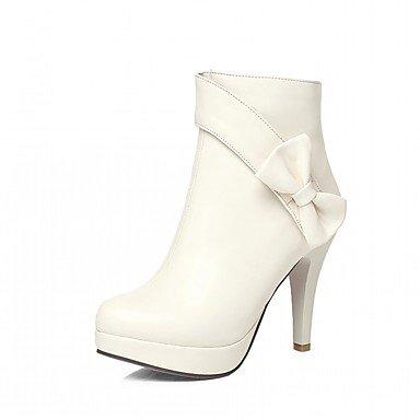 RTRY Scarpe Donna Pu Similpelle Autunno Inverno Comfort Novità Moda Stivali Stivali Stiletto Heel Round Toe Stivaletti/Stivaletti Bowknot Per US10.5 / EU42 / UK8.5 / CN43