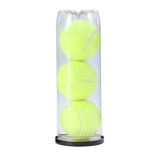 VORCOOL 3 stücke Tennisbälle Können Tennisbälle Meisterschaft Regelmäßige Tennisball Pet Hunde Tennisbälle (Gelb) -