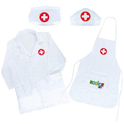 Arztkittel Für Kinder Doktor Rollenspiel Spielzeug Geschenke Kinder Kinderarztkoffer Ab 3 4 5 Jahre...