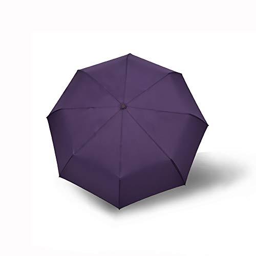 Automatische Schirm-Falten Männer Und Frauen Business-Schirm 30% Umbrella Geschenk Schirm Kundenspezifische Logo-Schirm-Werbe Schirm,Purple