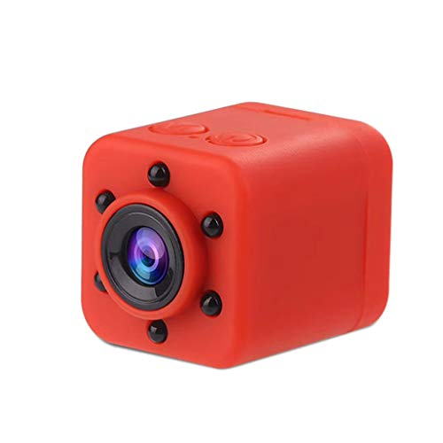 htfrgeds Mini Camera Spy Camcorder Nachtsicht Mini Camera Spy 1080P HD Sport Mikrokamera DVR Videorecorder, 155 Grad Kamera (Rot)