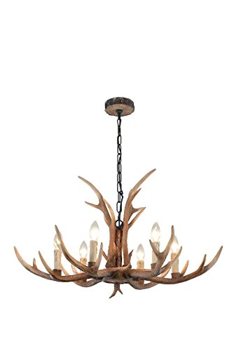 Tall, Kronleuchter (EFFORTINC Resin Antler Chandeliers 6 Light 34.2