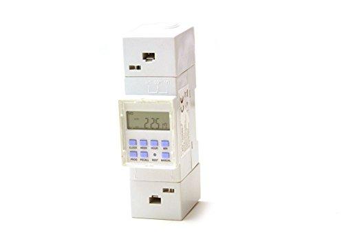 Zeitschaltuhr digital für Hutschiene Einbau Schaltschrank Zählerschrank 230V 16A