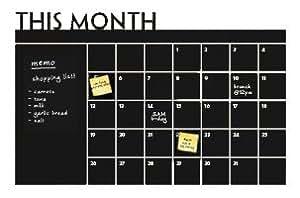 Diy mensuel autocollant mural vinyle calendrier tableau Planificateur amovible Papier peint mural vinyle Stickers muraux 60*92cm