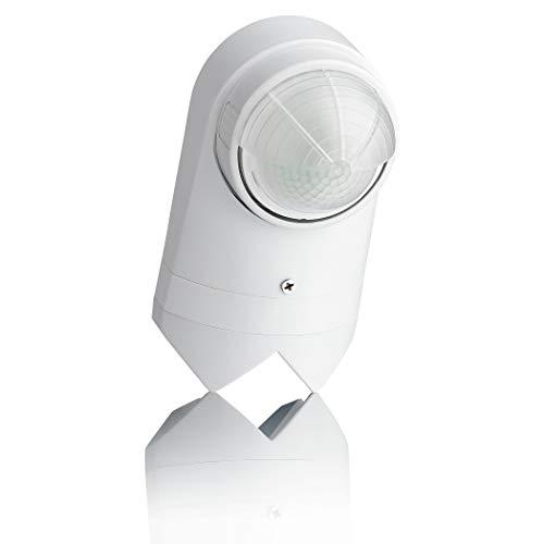 SEBSON® Bewegungsmelder Aussen IP54, Wand oder Eck Montage Aufputz, programmierbar, Infrarot Sensor, Reichweite 10m / 240°, LED geeignet
