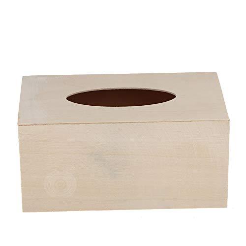 HNJGL Unfinished Natürliche Polymer Clay Holz Tissue Box Mit Offenen Deckel für DIY Handwerk Wohnkultur - Holz Handwerk Unfinished Box