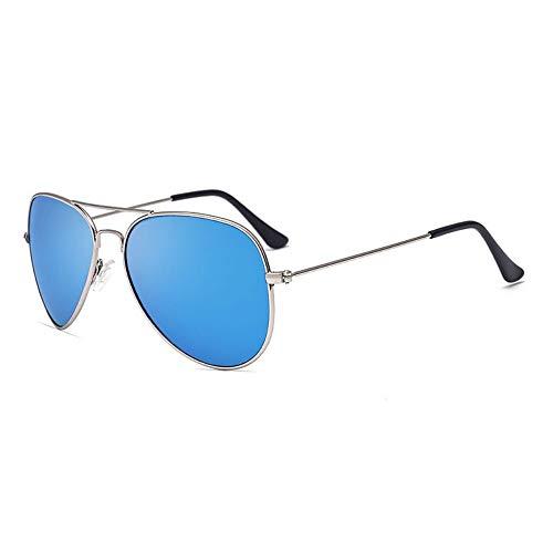 FUZHISI Sonnenbrillen Polarisierte Sonnenbrille Männer Pilot Damen Fahren Sonnenbrille Oval Mirror Goggles Eyewear, Blau
