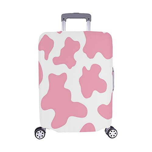 Abstraktes rosa Kuh-Beschaffenheits-Design-Muster Spandex-Trolley-Reisegepäck-Schutz-Koffer-Abdeckung 28,5 x 20,5 -