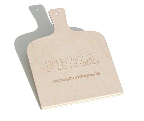 Pizzaschaufel / Brotschieber aus Birkensperrholz (Zubehör zum Pizzastein)