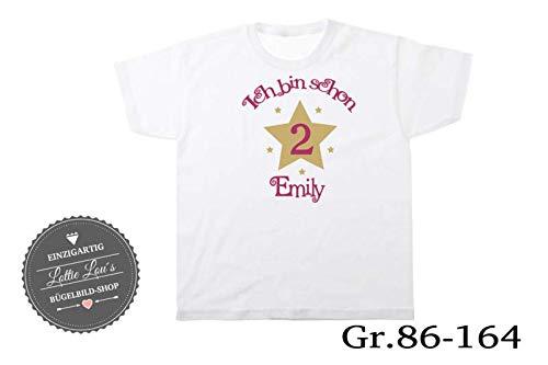 T-Shirt Geburtstag Zahl Number Stern Star Name