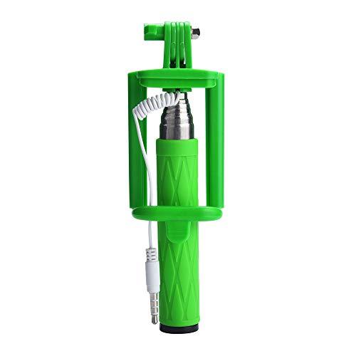 Fulltime E-Gadget Smartphone Stativ, Selfie Stick Ausziehbarer Hand-Selbst-Pole-Stativ Einbeinstativ-Stock für Smartphone (Grün)