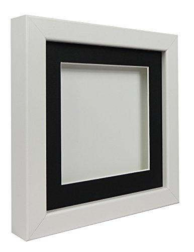 hadow Display Bilderrahmen 30x 30cm, weißer Rahmen, schwarzes Passepartout, Weiß Rückwand ()