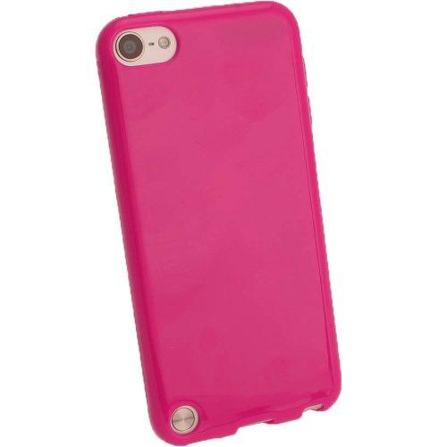 igadgitz Pink Glänzend Gel Tasche TPU Schutzhülle Etui für Apple iPod Touch 6. Generation (Juli 2015) & 5. Generation (2012-2015) Case Cover + Displayschutzfolie (Ipod Touch Cases Pink)