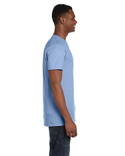 Hanes -  T-shirt - Asimmetrico - Uomo Blu chiaro